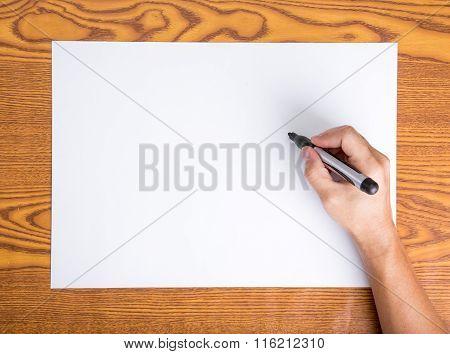 Hand Write On White Paper