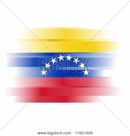 Abstract Flag Of Venezuela On White Background