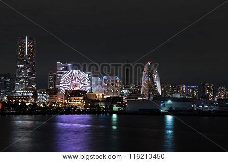 Nightview of Yokohama City