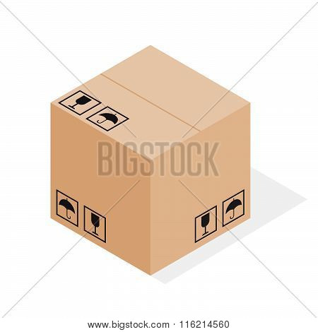 Brown Closed Carton Delivery Packaging Box