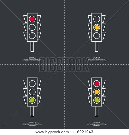 Abstract background with traffic lights.