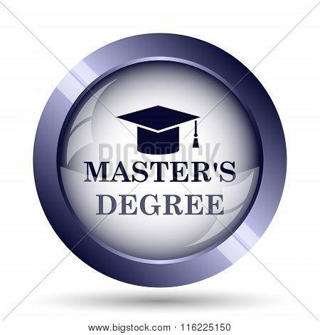 Master's degree icon Internet button on white background. poster