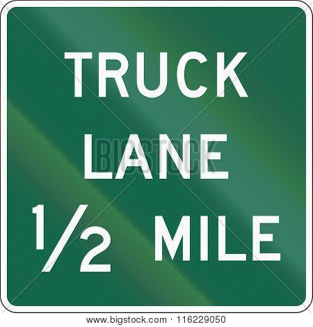 United States Mutcd Road Sign - Truck Lane