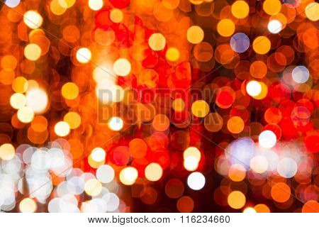 Colorful Festive Bokeh Background Of City Lights