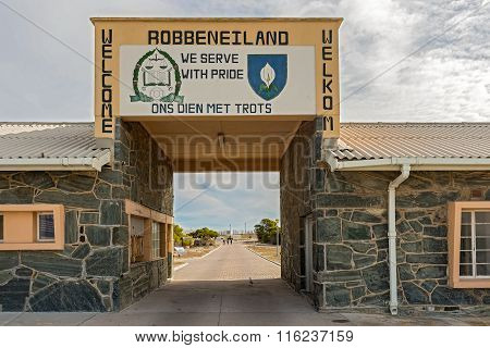Entry Gate In Robben Island, Cape Town, South Africa
