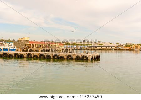 Robben Island Dock, As Seen From Ferry Boat, Cape Town, South Africa
