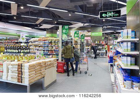 SHENZHEN, CHINA - JANUARY 23, 2016: interior of blt market in ShenZhen. blt an acronym of