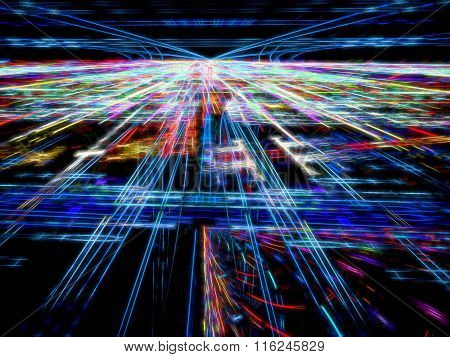 Abstract digitally generated tecnology backdrop