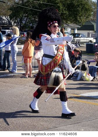 Scottish Bagpipe Band Leader