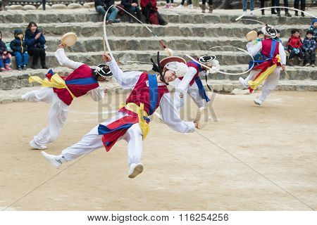 Korean Folk Dancers and Musicians