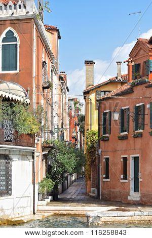 Small Stone Street In Venice, Italy