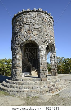 Observation Tower At Mount Battie In Camden Maine