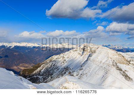 Mountain Winter Panorama, Italy