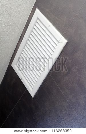 Angled View Of An Air Vent