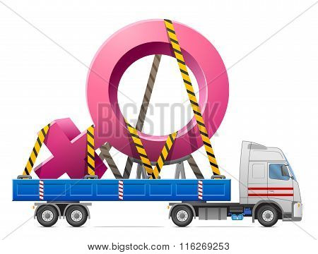 Road Transportation Of Female Symbol