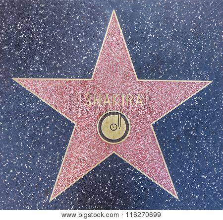 Shakira's Star In Hollywood