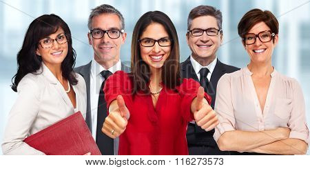 Group of business people wearing eyeglasses. poster