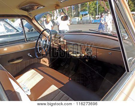 Dashboard Of The Soviet Retro Car Volga 21