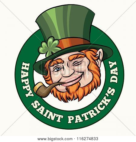 Saintt Patricks Day Badge