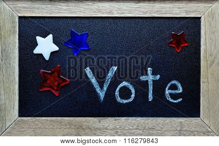 Framed message to vote