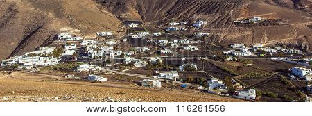picturesque village of Femes in Lanzarote Spain poster