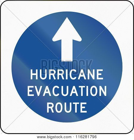 United States Mutcd Emergency Road Sign - Hurricane Evacuation Route