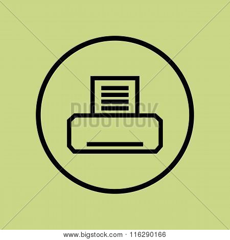 Fax Icon On Circle Background