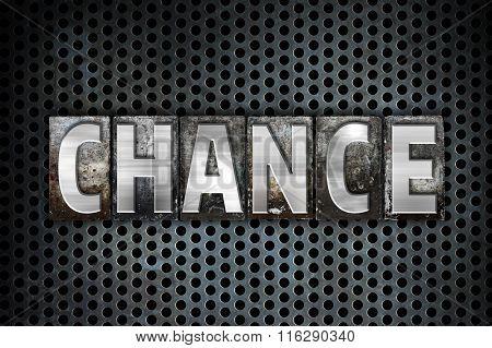 Chance Concept Metal Letterpress Type