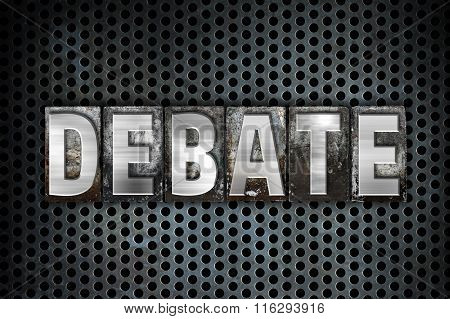 Debate Concept Metal Letterpress Type