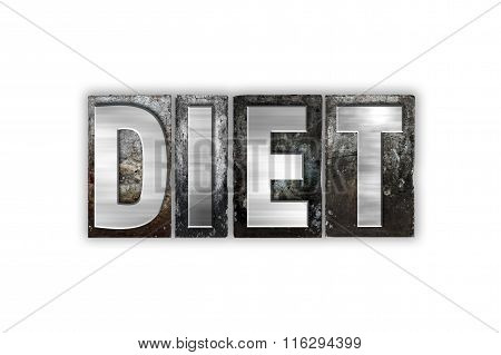 Diet Concept Isolated Metal Letterpress Type