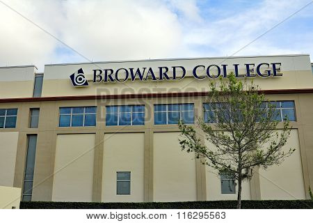 Broward College Building And Sign