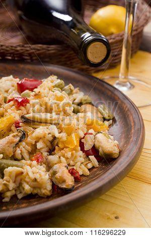 National Dish Of Spain - Fish Paella