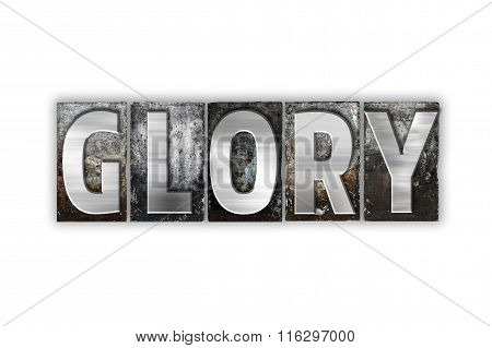 Glory Concept Isolated Metal Letterpress Type