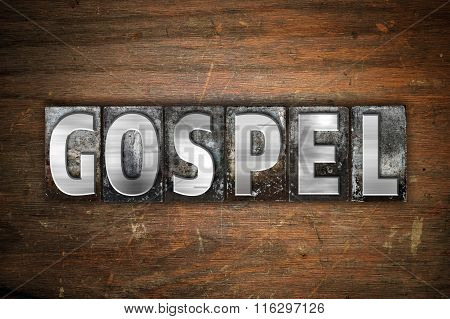 Gospel Concept Metal Letterpress Type