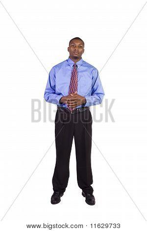 Handsome Black Businessman Standing
