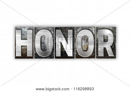 Honor Concept Isolated Metal Letterpress Type