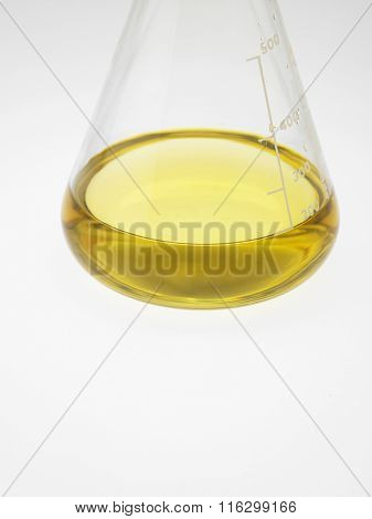 bottle or the oil on the white background