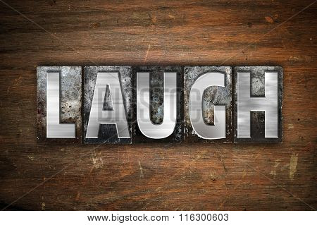 Laugh Concept Metal Letterpress Type