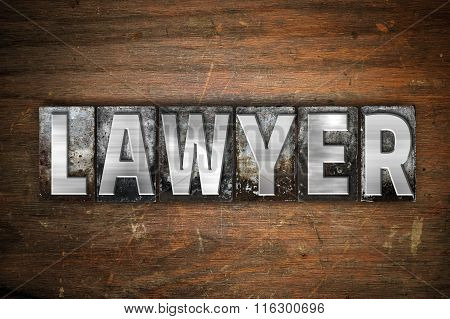 Lawyer Concept Metal Letterpress Type