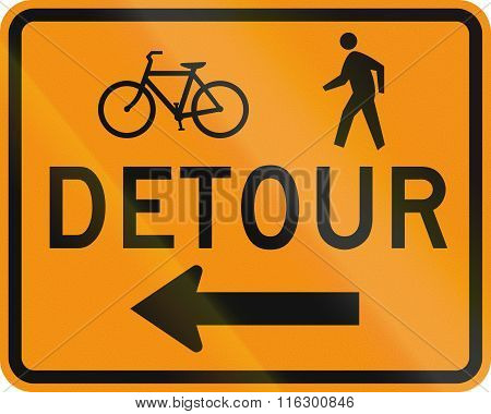 United States Mutcd Road Sign - Detour