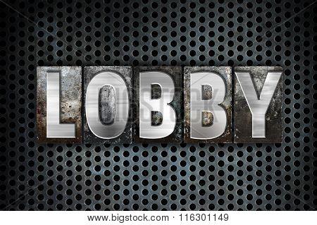 Lobby Concept Metal Letterpress Type