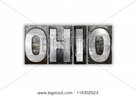 Ohio Concept Isolated Metal Letterpress Type