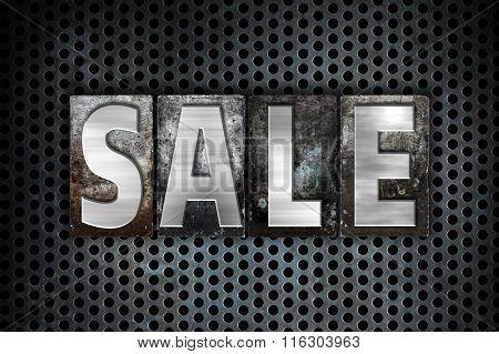 Sale Concept Metal Letterpress Type