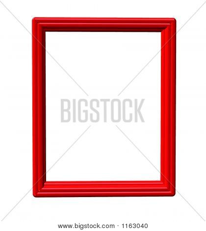 Red Vertical Frame Over White