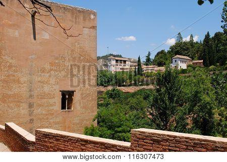 Castle buildings, Alhambra Palace.