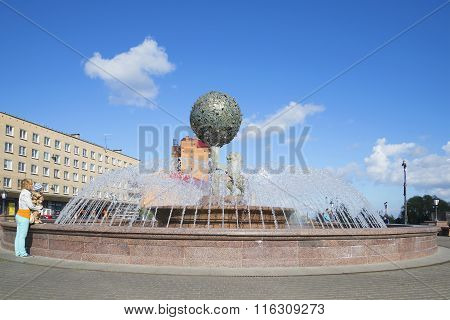 At the anniversary of the fountain. Lomonosov, Leningrad Region