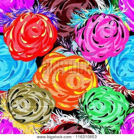 Beautiful Roses Seamless Background