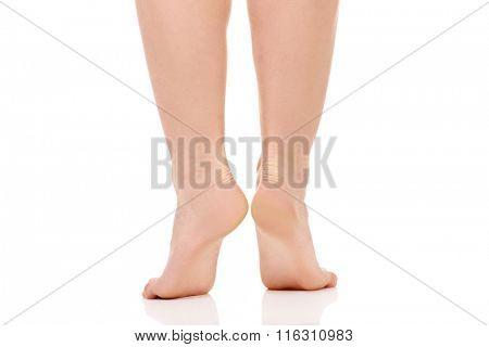 Healthy female feet.