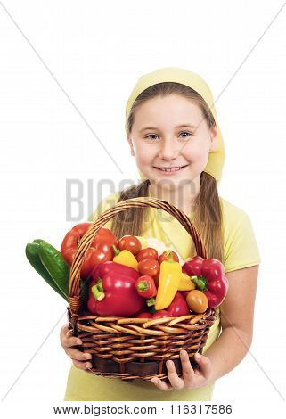 The Girl With Vegetables