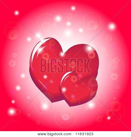 Two bright hearts
